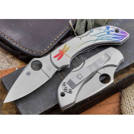 Couteau SPYDERCO Stainless DRAGONFLY TATTOO SC28PT