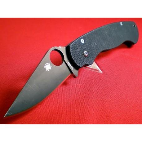 Couteau SPYDERCO Black G10 PARA-MILITARY Plain SC81GPBK