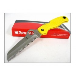 Couteau Spyderco Atlantic Salt Yellow Serrated Acier H1 Manche FRN Made In Japan SC89SYL - Livraison Gratuite