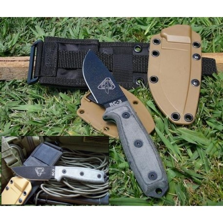RC3PMB ESEE Knives RAT Cutlery RC-3 Knife w/ Molle COUTEAU DE COMBAT