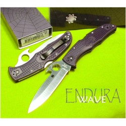 Couteau Spyderco Endura 4 Wave Acier VG-10 Manche FRN Made In Japan SC10PGYW - Livraison Gratuite