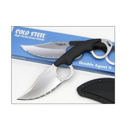 Cold Steel Double Agent II Serrated -Couteau Cold Steel CS39FNS