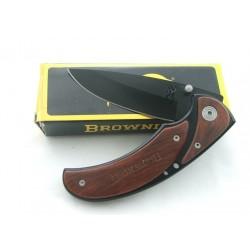 Browning Framelock Black/Cocobolo Lame Acier 440 Manche Cocobolo - BR068 - Couteau Browning - LIVRAISON GRATUITE