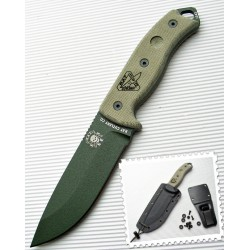 Couteau ESEE Model 5 RC5 Green Lame Acier Carbone 1095 Etui Kydex RC5POD Made In USA - LIVRAISON GRATUITE