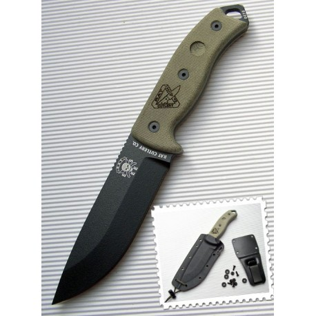 Rat Cutlery / ESEE RC-5 RC5 Survival Black - RC5PBK - Couteau RC / ESEE