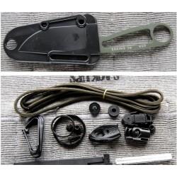 COUTEAU RAT CUTLERY / ESEE IZULA SURVIE AVEC KIT - RCIODK OD Green Survival Kit USA - LIVRAISON GRATUITE