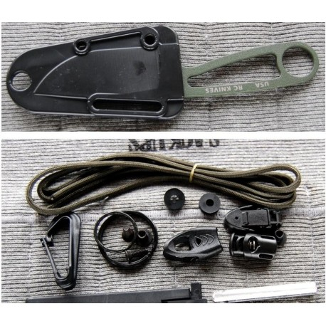 COUTEAU RAT CUTLERY / ESEE SURVIE AVEC KIT - RCIODK Rat Cutlery Izula OD Green Survival Kit USA
