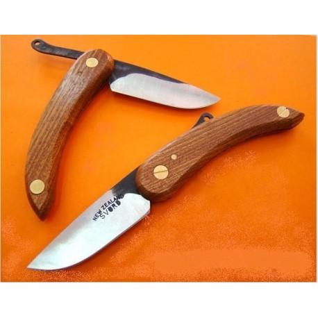 """Couteau PIEMONTAIS MANCHE BOIS SV132 de NOUVELLE ZELAND Carbone SVORD """"PEASANT"""" KNIFE"""