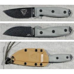 RC3P Couteau ESEE Model 3 Lame Acier Carbone 1095 Etui Coyote + Clip Made In USA - Livraison Gratuite