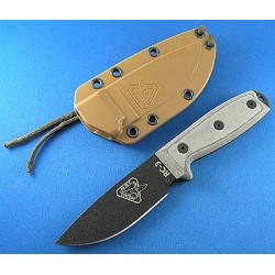 Couteau de Survie ESEE Model 3 Standard Edge RC3 Carbone 1095 Manche Micarta ESEE Made In USA RC3PM - Livraison Gratuite