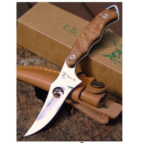 Couteau SKINNER ELK RIDGE ER059 CHASSE Sharpfinger Style Burlwood