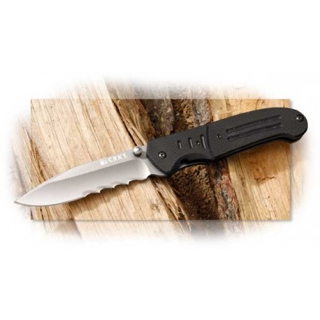 COUTEAU CRKT IGNITOR SERRATED - CRKT Ignitor T Serrated Speed Assist Knife aCIER 8cR14mov Titane CR6865