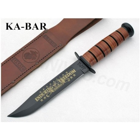 Couteau KA-BAR - Kabar USMC Operation Enduring Freedom Afghanistan Commemorative - KA BAR Made In USA KA9169
