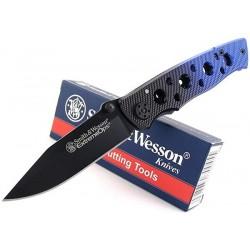 Couteau Smith&Wesson Extreme OPS Knife Lame Acier Teflon Cran d'Arrêt SW111 - Livraison Gratuite