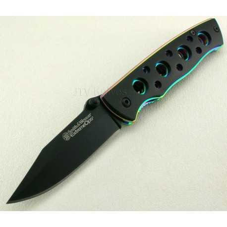Couteau Smith&Wesson S&W Knives Extreme OPS Knife SW113 Rainbow