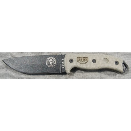 RAT Cutlery RC-5 Tactical Knife Esee Knives Model 5 COUTEAU DE COMBAT ES5PKOBK - COUTEAU ESEE MADE IN USA