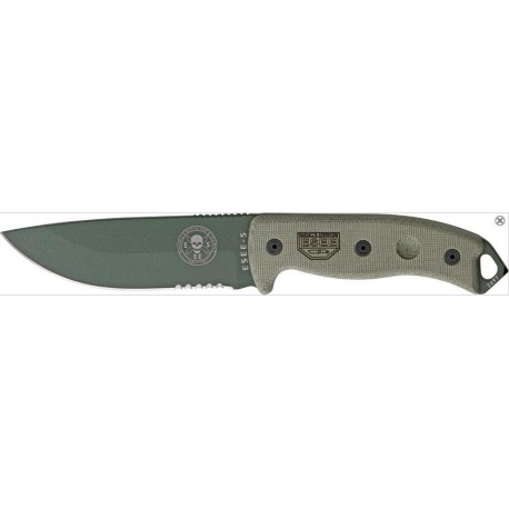 COUTEAU ESEE Knives - COUTEAU DE COMBAT RAT CUTLERY ESEE ES5SKOOD MODEL 5 MADE IN USA - COUTEAU SEUL