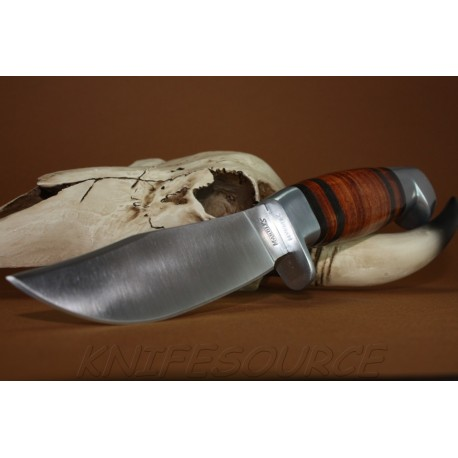 Couteau Chasse Rando Marbles Fixed Blade Hunter Manche Cuir Acier Carbone MR248