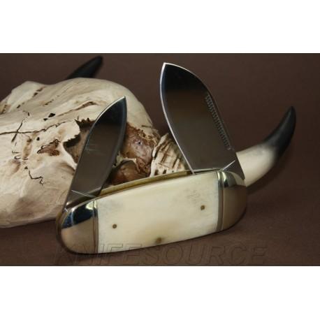 Couteau Bouledogue Canif 2 lames Plaquettes Os Rough Rider Knives Elephants Toenail Pocket Knife RR139