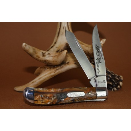 Canif Couteau de poche Imperial Schrade Medium - Couteau Schrade Knives Imperial Trapper Amber Pocket Knife IMP15T