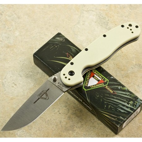 ONTARIO RAT 1 - ON8848DT - Couteau Ontario Pliant Acier AUS8 Plaquettes G10