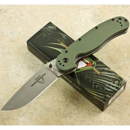 ONTARIO RAT 1 - ON8848OD - Couteau Ontario Pliant Acier AUS8 Plaquettes G10