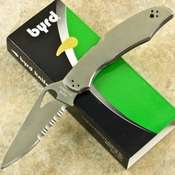 Couteau BYRD Spyderco CARA CARA 2 Manche Acier Serrated Blade BY03PS2