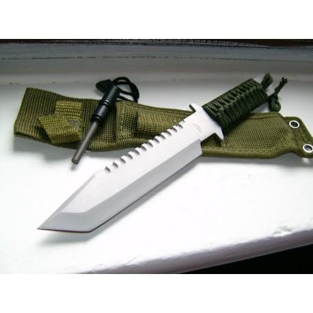 Couteau SURVIE + Allume FEU M3371 - TANTO MILITARY