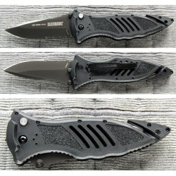 Couteau de combat Blackhawk CQD Mark 1 Type E Serrated Tactical Rescue Acier AUS8 BB15M111BK