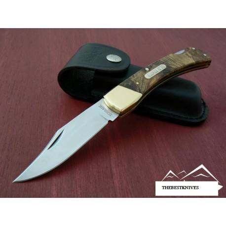 COUTEAU DE CHASSE Schrade 'Old Timer' Golden Bear 6OTW IRONWOOD Pocket/Hunting Knife SCH6OTW