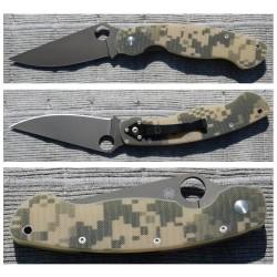Couteau Spyderco Military Camo G10 Lame Acier CPM-S30V Made In USA SC36GPCMOBK - Livraison Gratuite