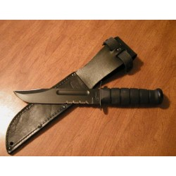 Couteau de combat Ka-bar USA Fighting Knife KABAR Black U.S.M.C Made In USA KA1212 - Livaison Gratuite