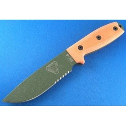 COUTEAU RAT CUTLERY ESEE ORANGE - RAT Cutlery RC-4 Orange OD Knife Serrated COUTEAU DE COMBAT RAT CUTLERY RC4SOD