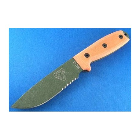 COUTEAU RAT CUTLERY ESEE ORANGE - RAT Cutlery RC-4 Orange OD Knife Serrated COUTEAU DE COMBAT RAT CUTLERY RC4SOD