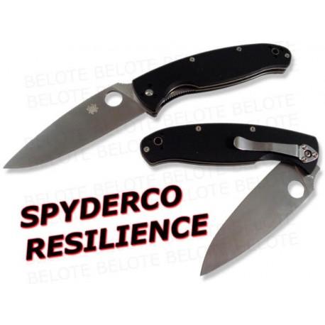Couteau SPYDERCO Resilience Plaquettes G10 Acier 8Cr13Mov SC142GP