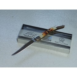 COUTEAU Canif Chilli Toothpick Bone Manche Os Corné Acier 440 PA5000