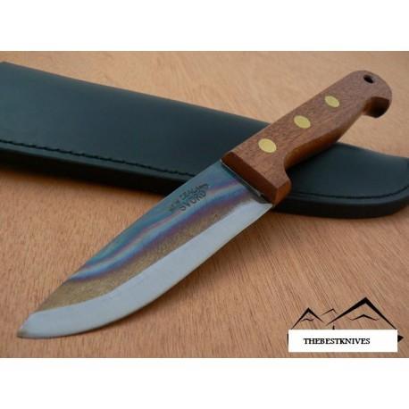 Couteau Bowie Fabrication Artisanale SVORD Nouvelle Zélande CARBONE 1095 Manche Bois SVDP - Livraison Gratuite
