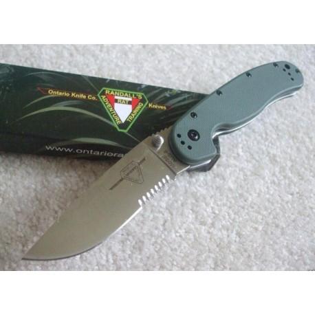 Couteau Ontario RAT-1 Tactical Folding Knife Olive Drab G-10 Handles Acier AUS-8 ON8849OD - Livraison Gratuite