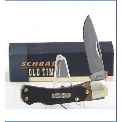 Couteau Schrade Old Timer Bearhead Manche Delrin Lockback Acier 440 SCH3OT - Livraison Gratuite