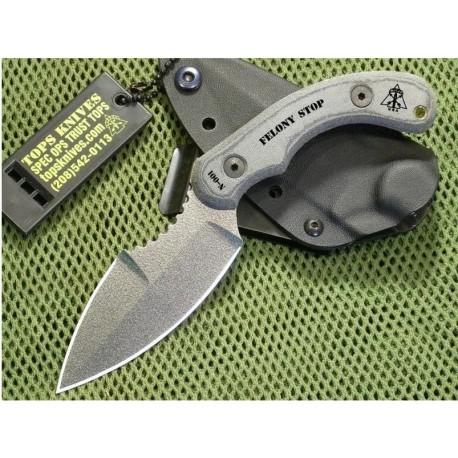 Couteau de combat TOPS Knives Felony Stop FELS-01 Couteaux TOPS KNIVES Made In USA TPFELS01 - Livraison Gratuite