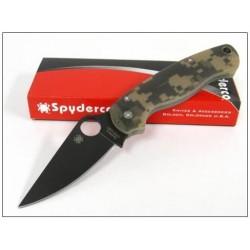 Couteau SPYDERCO PARA-MILITARY 2 Camo Acier CPM-S30V Spyderco Made In USA SC81GPCMOBK2 - Livraison Gratuite