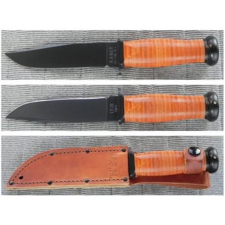 Couteau Ka-Bar Mark 1 US Navy Acier 1095 Carbone Couteau de Combat KABAR Made In USA KA2225 - Livraison Gratuite