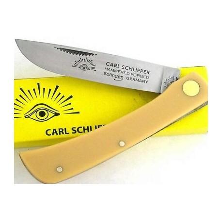 Canif Couteau German Eye Premium Germany Solingen Sodbuster Yellow Acier Carbone GE99JRY - Livraison Gratuite