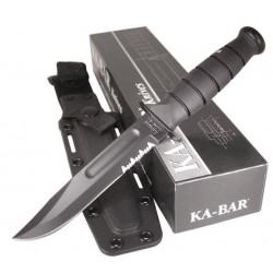 Couteau de combat KABAR FIGHTING KNIFE BLACK SERRATED Couteaux Ka-Bar Made In USA KA1214 - LIVRAISON GRATUITE