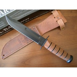 KA1220 Couteau Ka-bar Army Fighting Acier Carbone 1095 Manche Cuir Etui Cuir Made In USA - Livraison Gratuite