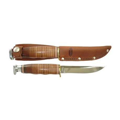 Couteau de Chasse Ka-bar Hunter Manche Cuir Couteau KABAR KA1232 - Livraison Gratuite