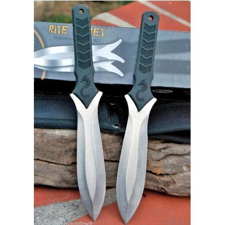 Couteaux de lancer Rite Edge Double Throwing Knives Combo 2 Pièces CN210710 - Livraison Gratuite