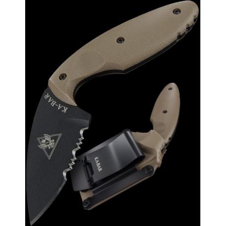 Ka-Bar TDI Knife Coyote Brown Couteau de Combat Acier AUS8 Manche Zytel Coyote KA1477CB - Livraison Gratuite