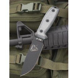 Couteau de Survie ESEE / RAT CUTLERY Model 4 Lame carbone 1095 Micarta Made in USA RC4P - Livraison Gratuite