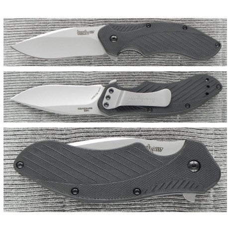 COUTEAU KERSHAW Clash Spring Assisted A/O 8Cr13MoV Plain edge KS1605 - Livraison Gratuite